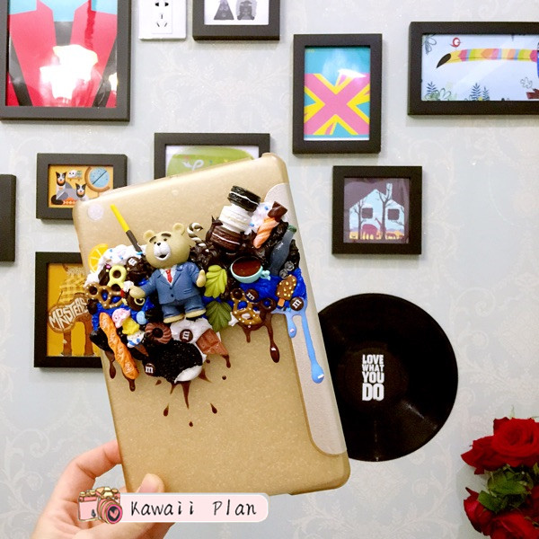 Kawaii iPad Cover, Decoden Case,Handmade,Customs made cellphone case for iPad Mini123/Air